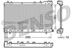 Радиатор системы охлаждения Subaru: Forester (SG) 2.0i/2.0S Turbo/2. 0X/2. 5i/2. 5RX/2. 5XT/AWD 02- (МКПП)