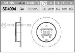 Диск тормозной задний! Toyota RAV4 2.0/2.2D 06> SD4094_