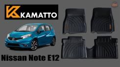 Модельные 3D авто коврики Kamatto для Nissan Note E12 (правый руль)