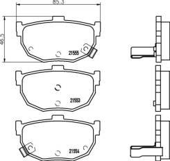 Колодки тормозные дисковые задн. Corsair Hatchback (UA) Corsair Schr?gheck (UA) Mintex [MDB2352]