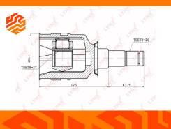 ШРУС внутренний Lynxauto CI7501 левый передний