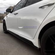 Боковые сплиттера (накладки на пороги) на Kia Optima IV 2016г-выше