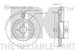 Диск тормозной передний (324x28mm) / FORD Focus-I RS 02~05