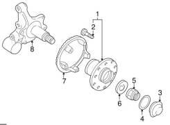 Кольцо уплотнительное ступицы Subaru (оригинал)