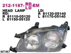 Фара передн лев с ЭК DEPO 212-1187L-LD-EM