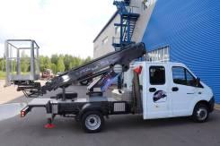 Автогидроподъемник ВИПО-12-01 (с высотой подъема 15 м. ) на шасси ГАЗ-3302 кабина 5 мест