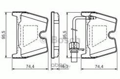 Колодки тормозные AUDI A4 RS4 4.2 05-09/R8 4.2 07- передние Bosch 0986494216