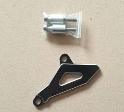 Защита передней звезды Kawasaki KLX450R 08-15 черная