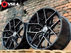 NEW! Разноширы! # HRE FF10 R19 8,5-9,5J 5x120 Black Polish [VSE-4]