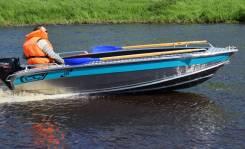 Алюминиевая лодка NewStyle-410 румпельное управление.