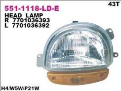 Фара передн лев DEPO 551-1118L-LD-E
