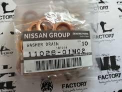 Прокладка сливной пробки Nissan 11026-01M02 1102601M01