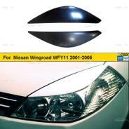 Реснички на фары для Nissan Wingroad WFY11 2001-2005