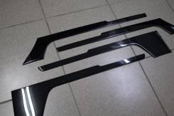 Накладки на обшивку двери Land Cruiser 200 , темный хром. стальные.