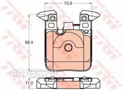 Колодки тормозные дисковые перед TRW GDB2028
