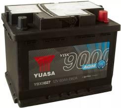 Аккумулятор Yuasa 60Ач 680А (YBX9027) L2 (L) AGM