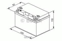 Аккумулятор для мототехники Bosch MOBA AGM M6 12V 9AH 200A (YTZ12S-4/YTZ12S-BS) 150x87x110mm 4.3kg Bosch 0092M60120