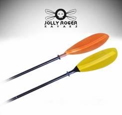 Двухстороннее весло Jolly Roger для каяка , SUP . вес 900гр