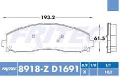 Комплект торм. колодок Ceramic HD Re для FORD F-250, F-350, F-450 13-17 [SHD-8918-Z-D1691]
