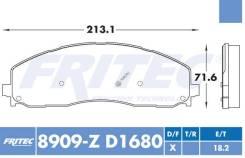 Комплект торм. колодок Ceramic HD Fr для FORD F-250, F-350, F-450 13-17 [SHD-8909-Z-D1680], правый передний