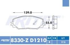 Комплект торм. колодок Ceramic Fr для Toyota Auris 07-, Allion 07-, RAV4 06-, Esquire, Prius 11-, Corolla 09-, Matrix 09-13, NOAH/VOXY 07-13, Wish MPV 09-, Verso S 10-16, Urban Cruiser 09-, Yaris Hybrid 12-, Pontiac Vibe 09-10, Subaru Trezia 11-, Lex...