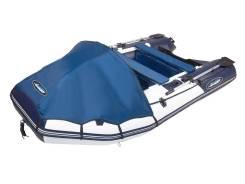 Надувная лодка Gladiator E380LT Бело - тёмно синий