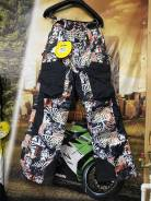 Штаны снегоходные L MCode pants (Белые/черные) BRP SKI Doo