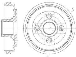 Барабан тормозной G-Brake GD-06484