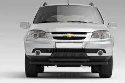 Защита переднего бампера двойная 63/51 мм Chevrolet NIVA с 2009 в БРН