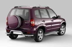 Защита порогов с алюминиевой площадкой 51 мм Chevrolet NIVA с 2009