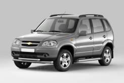 Защита порогов с площадкой 63 мм Chevrolet NIVA с 2009-2020