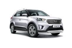 Защита порогов с алюминиевой площадкой 51 мм Hyundai Creta с 2016