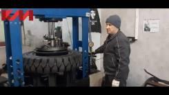 Монтаж (опрессовка) цельнолитых шин к погрузчикам