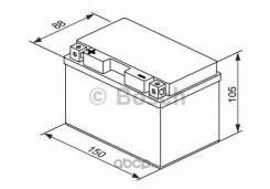 Аккумулятор для мототехники Bosch MOBA AGM M6 12V 11AH 140A (YT12A-4/YT12A-BS) 150x88x105mm 3.8kg Bosch 0092M60160