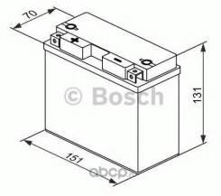Аккумулятор для мототехники Bosch MOBA AGM M6 12V 12AH 190A (YT12B-4/YT12B-BS) 151x70x131mm 4.3kg Bosch 0092M60190