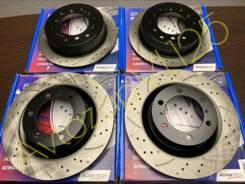 Комплект тормозных дисков перфорированных перед+зад[4шт] Prado12/GX470