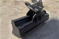 Поворотный планировочный ковш для экскаватора-погрузчика