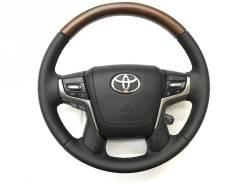 Оригинальный обод руля с косточкой под дерево и подoгревом Toyota