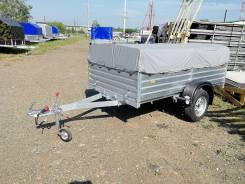 Прицеп МЗСА 817704 кузов 1,37*2,45 с тентом, самосвал, оцинкованный