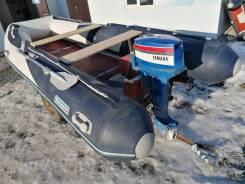 Надувная лодка Forward 420 на телеге + Yamaha 30 л. с., БУ