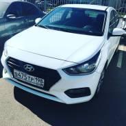 Аренда Hyundai Solaris 2018 Белый механика