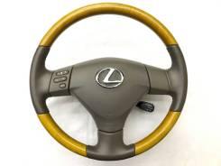 Оригинальный обод руля с косточкой светлое дерево Lexus