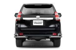Защита заднего бампера двойная угловая Toyota LAND Cruiser Prado