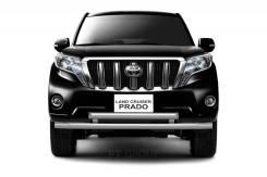 Защита переднего бампера двойная 63/63мм Toyota LAND Cruiser Prado