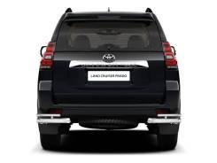 Защита заднего бампера двойная угловая БЕЗ Пневмо Toyota LC Prado 2017