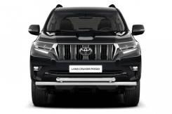 Защита переднего бампера двойная 63/63мм Toyota LC Prado 2017-