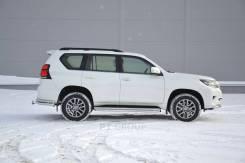 Защита переднего бампера одинарная 63мм Toyota LC Prado 2017-