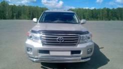 Защита переднего бампера двойная 63/63мм (НПС) Toyota LC 200 c 2014