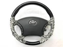 """Анатомический обод руля """"камуфляж"""" с косточкой чёрное дерево Toyota"""