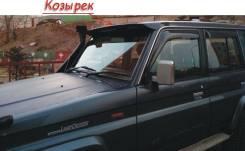 Козырек над лобовым стеклом тип кепка для Toyota Land Cruiser Prado 70